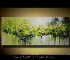 Art painting Original Abstract Painting, Modern Landscape Painting ,Palette Knife, Home Decor, Textured Painting on Canvas  by Chen n071