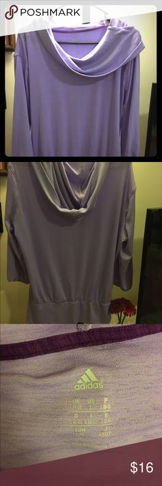 NWOT Lavender Adidas Cowl/Hooded Top You could do some serious fitnessing in this thing. Or you could just lay on the couch in your activewear. Whichever, it's great either way. Adidas Tops Sweatshirts & Hoodies