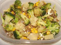 brokuł, feta, ananas, kukurzdza