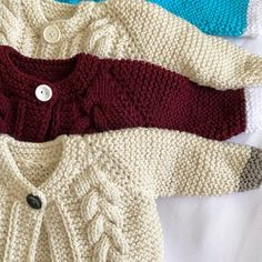 image Toddler Cardigan, Baby Cardigan, Knit Cardigan, Baby Sweater Knitting Pattern, Baby Knitting, Knitted Baby, Baby Girl Jackets, Color Style, Baby Girl Sweaters