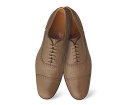 Louise  Souliers pour femme en chèvre Etoupe, talon bottier, semelle cousue #Hermes #shoes