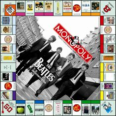 The Beatles Monopoly Board Game 2008 Collectors Edition - other type of designs, modpodged Les Beatles, Beatles Art, Monopoly Board, Monopoly Game, Paul Mccartney, Good Day Sunshine, All The Small Things, The Fab Four, Family Game Night