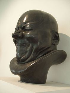 "Franz Xaver Messerschmidt bust. 18th c. Austrian sculptor, who specialized in ""character heads"", busts with faces in extremely contorted faces. He was crazy."