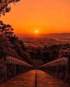Fukuoka, Evening Sunset, Night Aesthetic, Pink Sky, Places To See, Perspective, Art Photography, Sunrise, Scene
