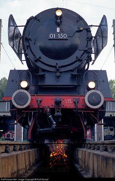 RailPictures.Net Photo: DB 01 150 Deutsche Bundesbahn Steam 4-6-2 at Karlsruhe, Germany by Rolf Stumpf