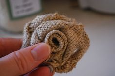 Great Burlap flower turorial! I want to make these.