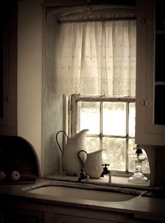 english farm house kitchen | beautiful lighting in kitchen | Romantic Farm Life