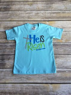 He is Risen boys Easter shirt by TheBlueSage on Etsy