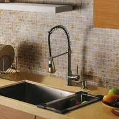 Vigo, Single-Handle Pull-Out Sprayer Kitchen Faucet in Stainless Steel, VG02003ST at The Home Depot - Mobile