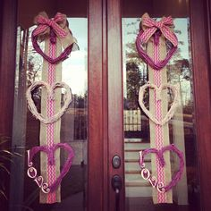 Homemade valentines day wreaths