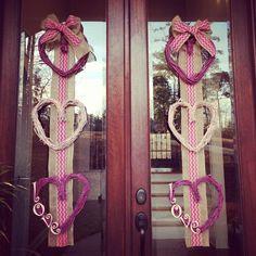 Homemade valentines day wreaths