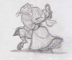 25 Pieces of Gorgeous Disney Movie Couples Concept Art | Oh My Disney