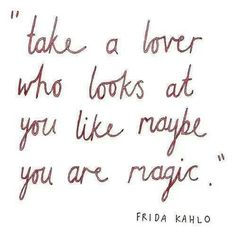 Maybe you are magic.
