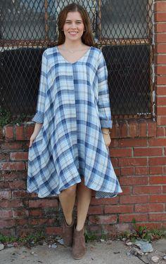 Prity Dress - Blue Plaid | CP Shades | It's a Shopping Thing