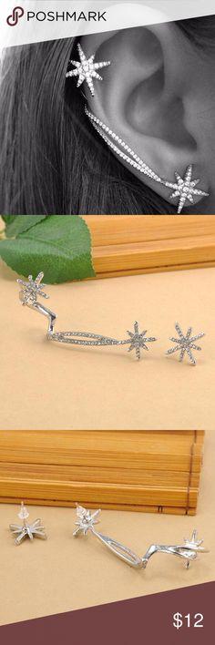 Fashion Women Punk Gothic Snowflake Rhinestone Fashion Women Punk Gothic Snowflake Rhinestone Clip Ear Cuff Wrap Stud Earrings Earrings For Women Jewelry Jewelry Earrings