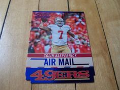 2014-Score-AM8-COLIN-KAEPERNICK-Air-Mail-Blue-Foil-Die-Cut-Insert-Card-49ers