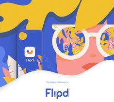Flipd app on Behance Learning Process, Graphic Design Studios, App, Online Portfolio, Ui Ux, Say Hi, Web Design, Behance, Branding