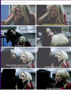 """I have to put a bullet in my head!"" - Jessica and Trish #JessicaJones ((This moment!!!))"