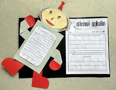 Astronaut Application for Exploring Space with an Astronaut in unit 1 Planets Activities, Kindergarten Activities, Science Activities, Classroom Activities, Student Teaching, Teaching Science, Space Classroom, Reading Street, 2nd Grade Reading