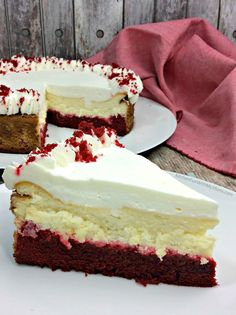 This Red Velvet Cheesecake is one of the most delicious cheesecakes that you will ever make. Red Velvet Cake combined with Cheesecake is perfection!
