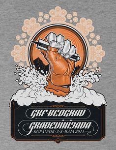 Boris Pelcer   Gradjevinijada Serbia 2.0 : T-shirt by Boris Pelcer, via Flickr