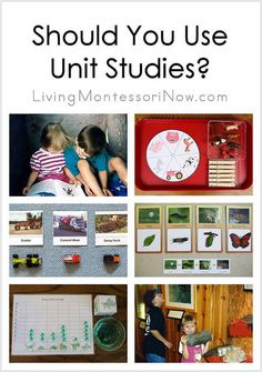 Why you should consider unit studies plus links to all the unit studies/themes and seasonal/holiday posts at Living Montessori Now