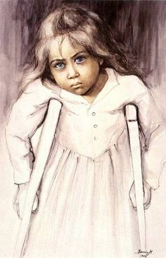 "Gabrynia, ""the Children of War"" series 1982 - Danuta Muszynska-Zamorska(Poland) Various Artists, Drawing For Kids, S Girls, War, Art Kids, Children, Drawings, People, Art"