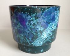 1960's Mid Century Modern Roth West German Art Pottery Lava Glazed Planter