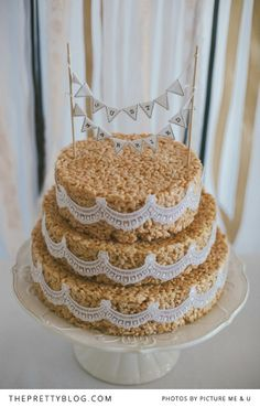 Rice Crispy Cake Reinhardt & Melanie's Late Summer Soiree | Real weddings | The Pretty Blog