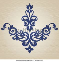 Ornament in Victorian style. Element for design. It can be used for decorating of invitations, cards, decoration for bags, clothes and at tattoo creation.