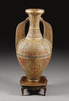 A LARGE ALHAMBRA VASE ATTRIBUTED TO RAFAEL CONTRERAS, SPAIN, PROBABLY GRANADA, 19TH CENTURY