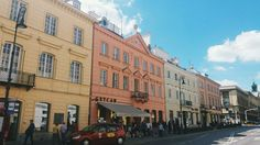 #warsaw #poland #pastels Love the colours of the buildings 💐