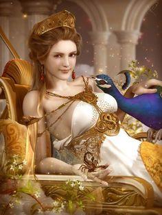 """Hera, la esposa de Zeus y reina del Olimpo. Es la personificación """"sagrada"""" del matrimonio"""