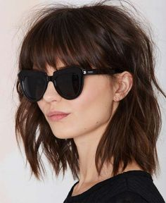 Beautiful Lob Shaggy Hairstyles With Bangs 2015 – 2016