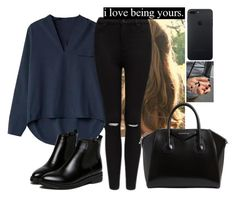 """""""🖤🖤🖤🖤"""" by hannahmcpherson12 ❤ liked on Polyvore featuring Forever New, WithChic and Givenchy"""