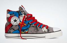 a57b7a913586 Yet another Superman pair of Chuck Ts Superman Shoes