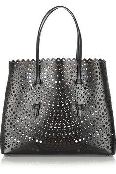 Alaïa|Vienna laser-cut leather tote|NET-A-PORTER.COM