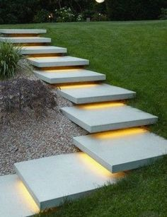 DIY Outdoor LED Strip Lighting Stairs and Toe Kick Design Your way More from my siteOutdoor Led light strip RGBW Color Changing + White LED Strip Light. Modern Landscape Design, Modern Landscaping, Backyard Landscaping, Landscaping Ideas, Landscape Architecture, Landscape Stairs, Landscape Concept, Patio Ideas, Backyard Landscape Design