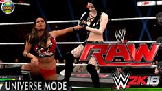 WWE Universe Mode: Paige vs Nikki Bella (RAW) 2K16 PC
