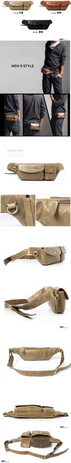 ขายกระเป๋าเท่ๆสำหรับผู้ชาย กระเป๋า คาดเอว สีดำ สีกากี สีน้ำตาล