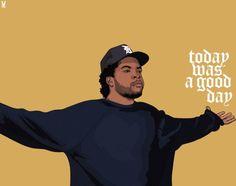 Ice Cube Today was a good day Arte Do Hip Hop, Hip Hop Art, Dope Cartoons, Dope Cartoon Art, Estilo Cholo, Dibujos Tumblr A Color, Trill Art, Rapper Art, Rap God
