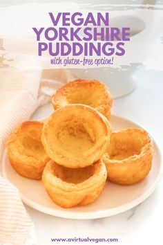 Perfect Vegan Yorkshire Puddings Perfect Vegan Yorkshire Puddings – Tall, crispy, golden sides, soft and slightly gooey bottoms, and a deep hollow just waiting to be filled with tasty gravy! And there's a gluten-free option! Vegan Gluten Free, Gluten Free Recipes, Vegan Vegetarian, Vegan Recipes, Cooking Recipes, Raw Vegan, Vegan Desserts, Vegan Food, Vegan Yorkshire Pudding