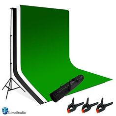 LimoStudio Photography Photo Video Studio Backdrop Background Kit, White Black Green Chromakey Backdrops, Backdrop Support Stand with Carry Bag, AGG796 LimoStudio http://www.amazon.com/dp/B005MZMEKC/ref=cm_sw_r_pi_dp_oBrYvb0ZCKJNS