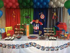Hulk Birthday Parties, Birthday Themes For Boys, Superhero Birthday Party, Birthday Party Decorations, Boy Birthday, Power Ranger Party, Superhero Baby Shower, Avengers Birthday, Paw Patrol
