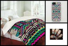 Bedrooms on pinterest teen bedroom aztec bedding and for Aztec bedroom ideas