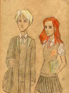 Scorpius and Rose. I ship it... But Rose is totally in Ravenclaw.