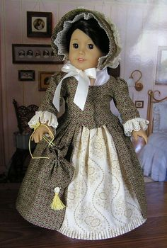 This 1770's En Forreau' Gown is made from a beautiful pattern created by Thimbles and Acorns by blinkersoh on Etsy