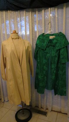 TWO TRUE VINTAGE MID-CENTURY EVENING COATS FOR SPRING AND SUMMER