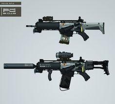 Police gun concept by *ProxyGreen on deviantART