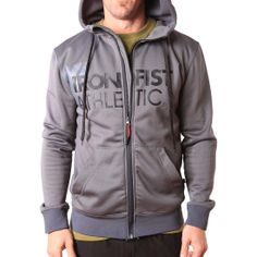 IFA Zip Through Hoody // Gun Metal - Jackets